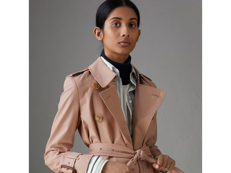 Tropical Gabardine Trench Coat in Pink Apricot - Women | Burberry Singapore - cell image 1