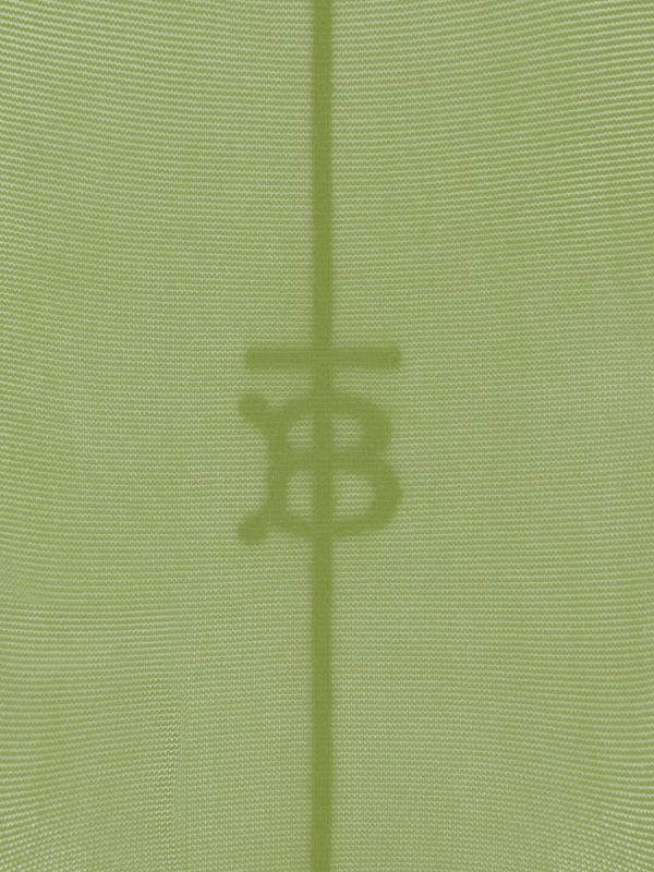 Monogram Motif Seamed Tights in Cedar Green - Women | Burberry - cell image 3