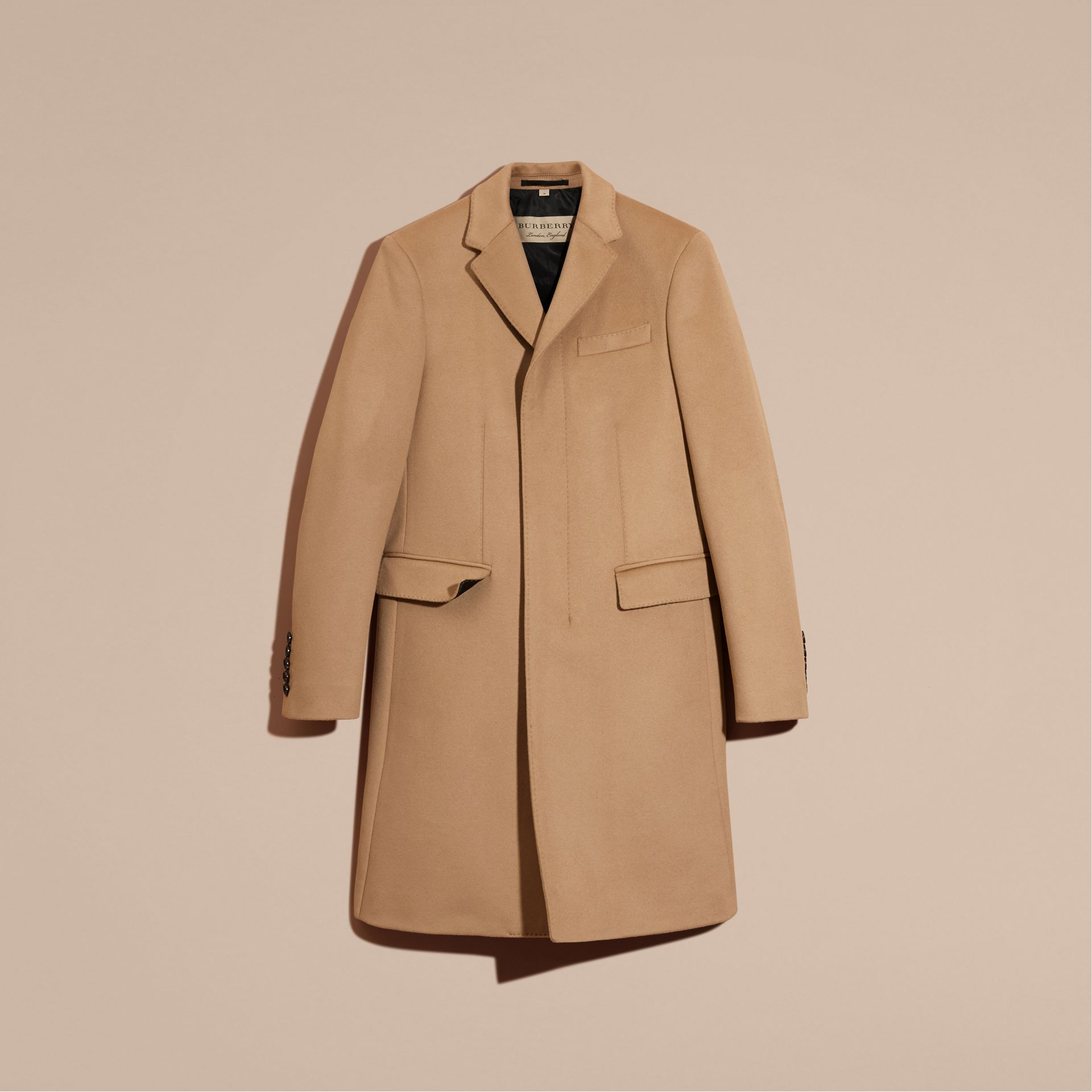 Wool Cashmere Tailored Coat Camel - gallery image 4