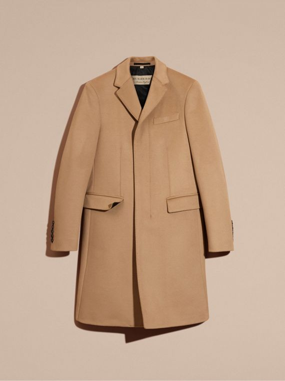 Wool Cashmere Tailored Coat Camel - cell image 3