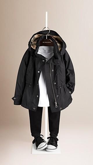 Technical Jacket with Detachable Hood