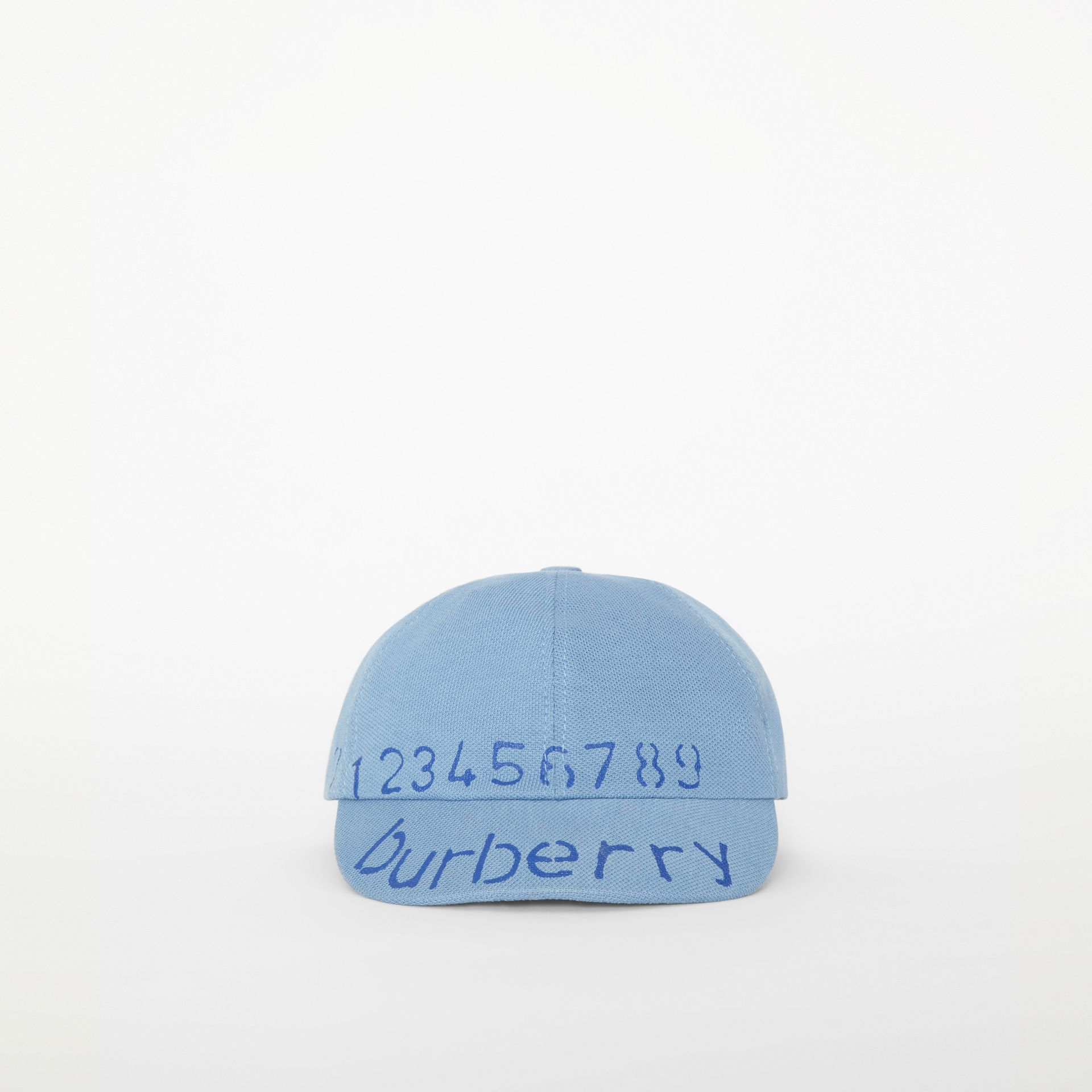 Stencil Logo Print Baseball Cap in Bright Cyan Blue - Children | Burberry - gallery image 4