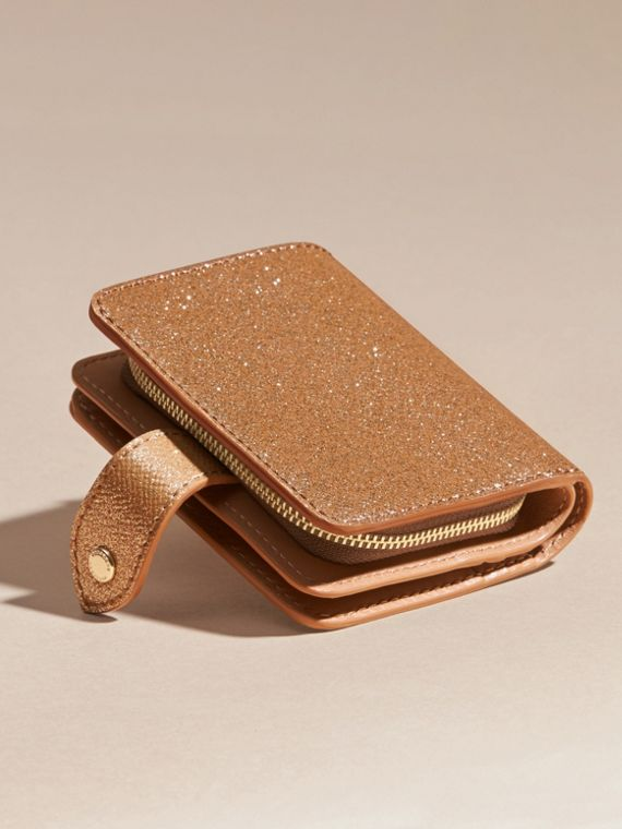 Glitter Patent London Leather Wallet in Camel / Gold - cell image 3