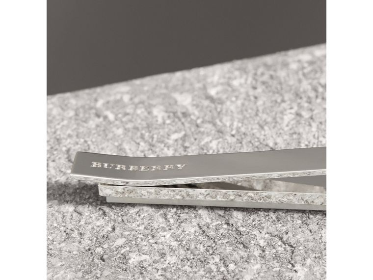 Mother-of-pearl and Brass Tie Bar - Men | Burberry - cell image 1