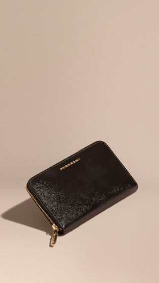 Patent London Leather Ziparound Wallet