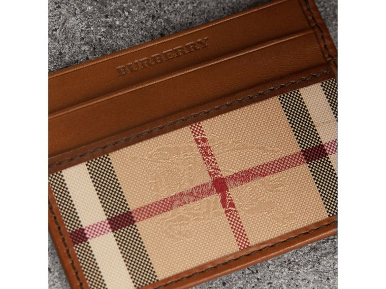 Horseferry Check Card Case in Tan - Men | Burberry - cell image 1