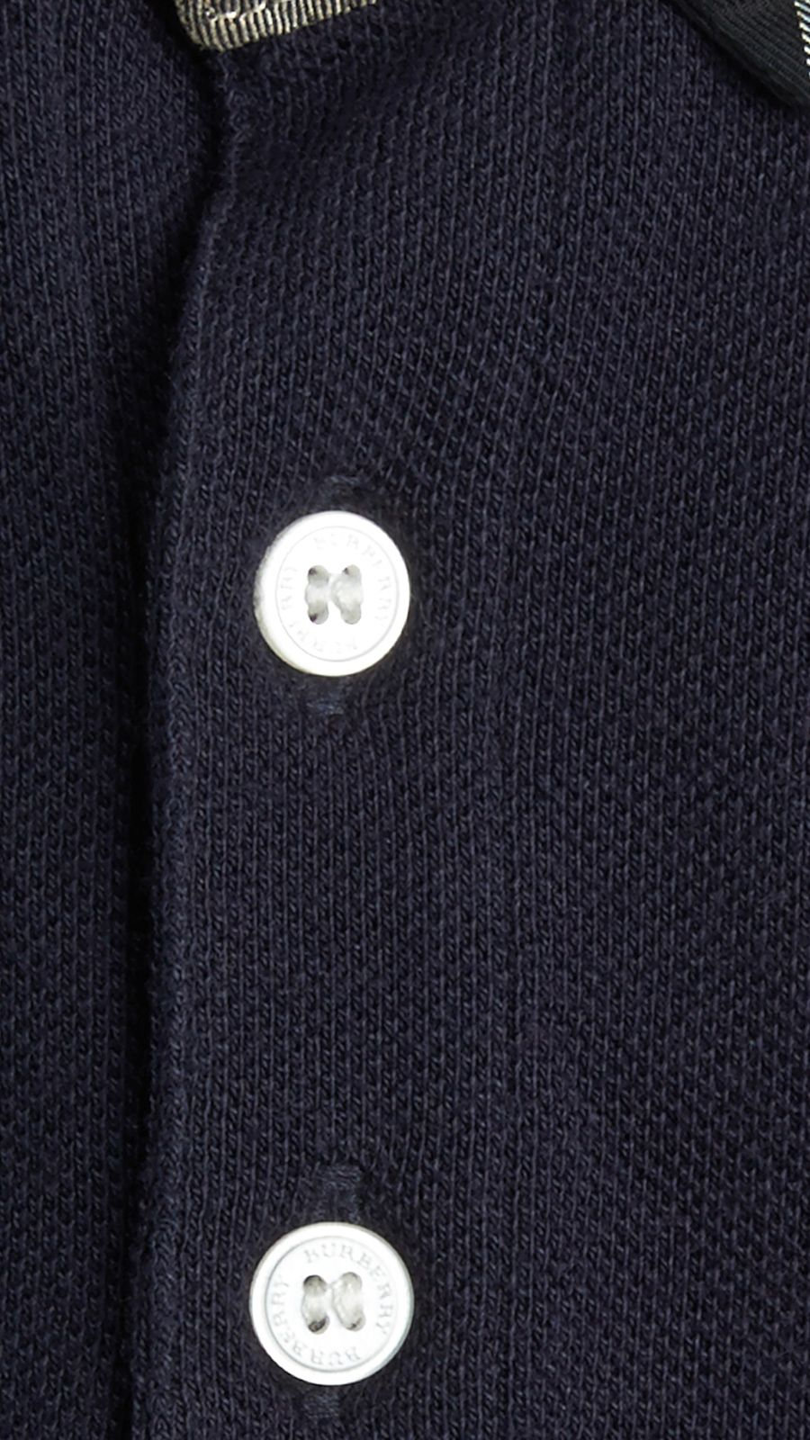 True navy Check Collar Polo Shirt True Navy - Image 2