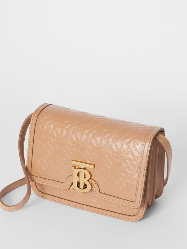 Small Monogram Leather TB Bag in Light Camel - Women | Burberry - cell image 3