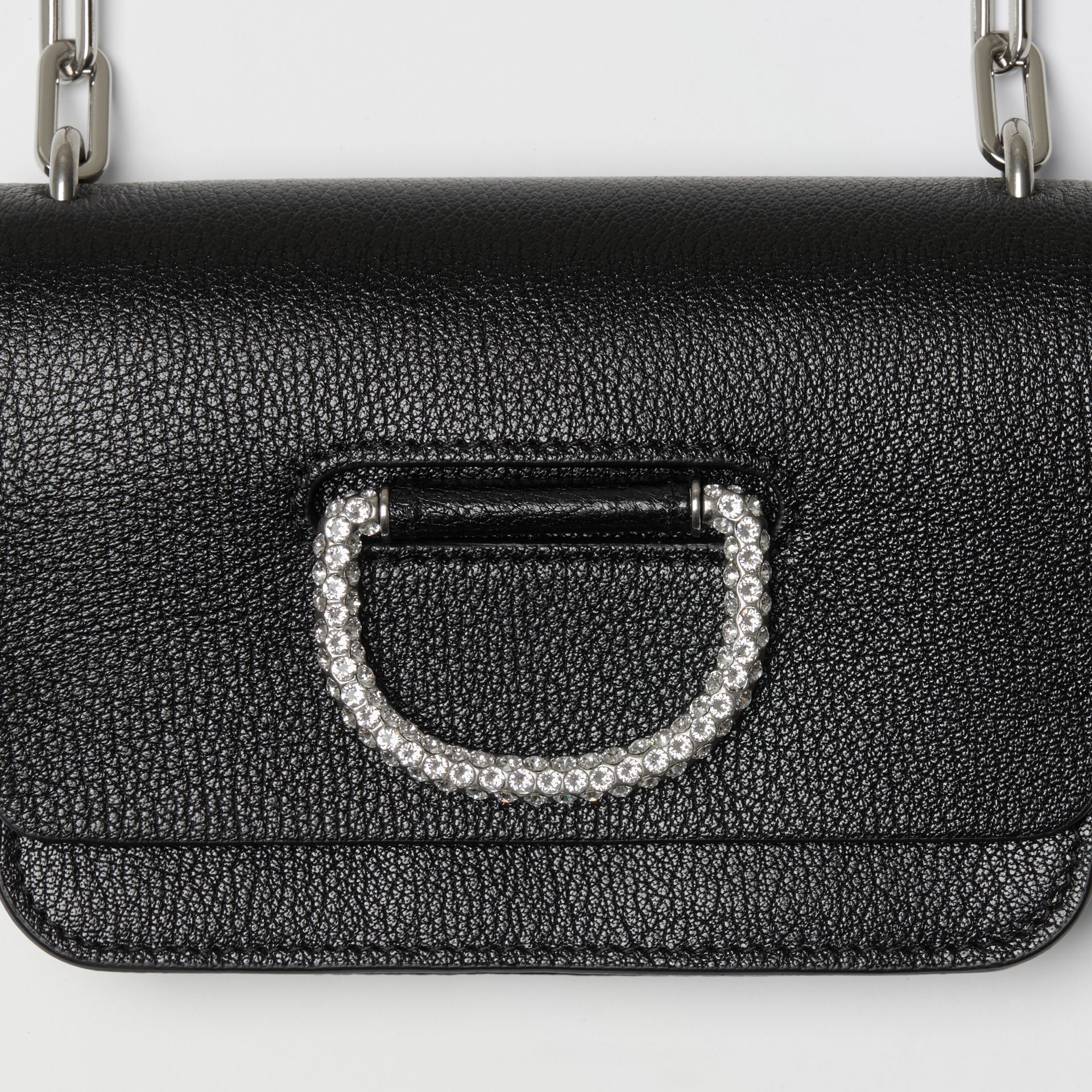 The Mini Leather Crystal D-ring Bag in Black - Women | Burberry - gallery image 4
