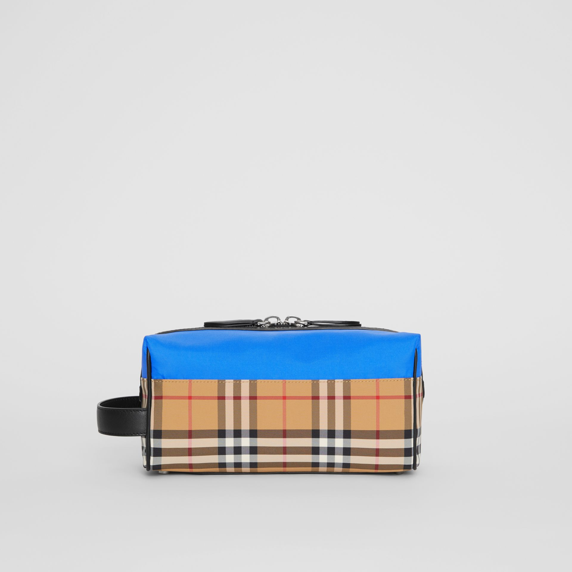 Vintage Check and Colour Block Pouch in Blue/vintage | Burberry - gallery image 7