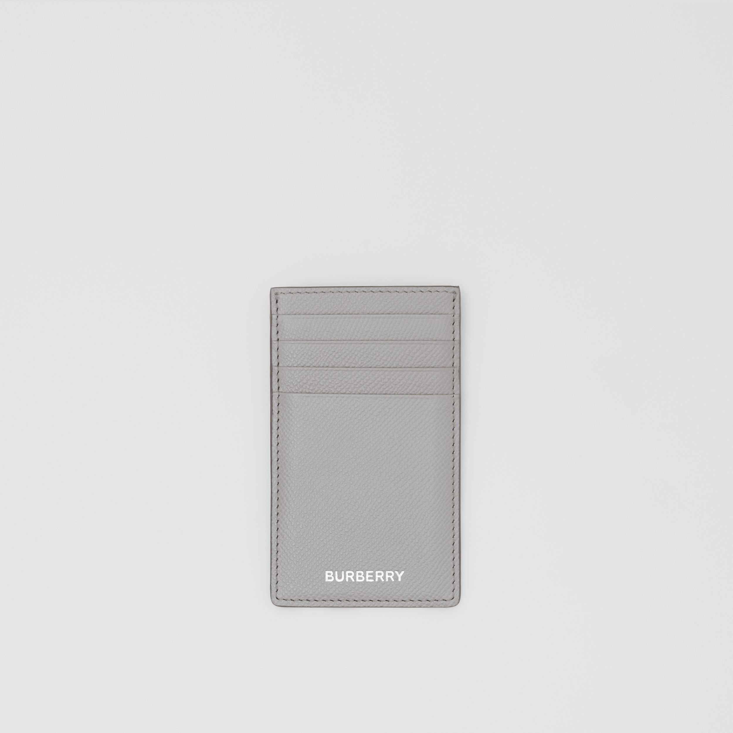 Grainy Leather Card Case in Cloud Grey - Men | Burberry - 1