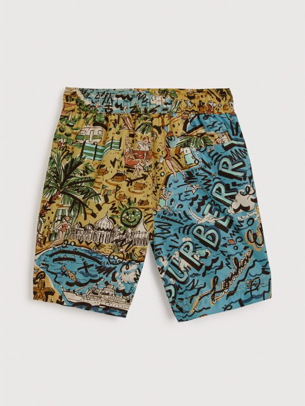 Seaside Print Swim Shorts in Sand - Boy | Burberry Singapore - cell image 3