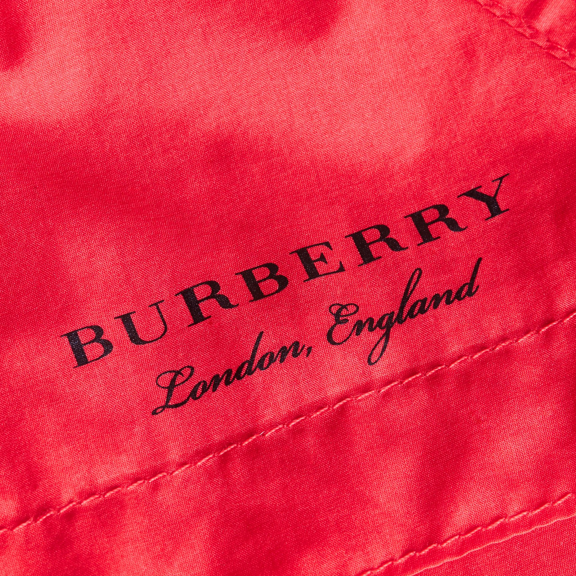Showerproof Hooded Technical Jacket in Vibrant Red - Boy | Burberry - gallery image 2