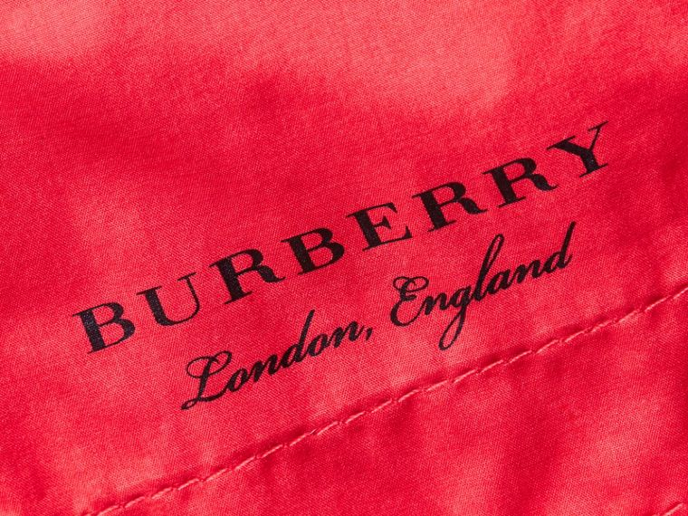 Showerproof Hooded Technical Jacket in Vibrant Red - Boy | Burberry - cell image 1