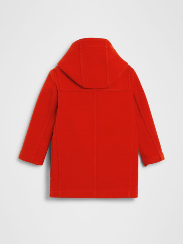Double-faced Wool Duffle Coat in Orange Red | Burberry - cell image 3