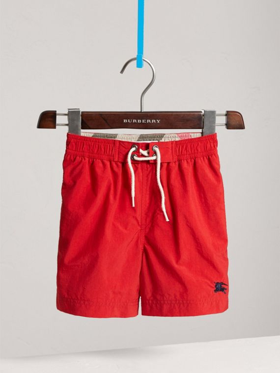 Lightweight Swim Shorts in Military Red - Boy | Burberry - cell image 2