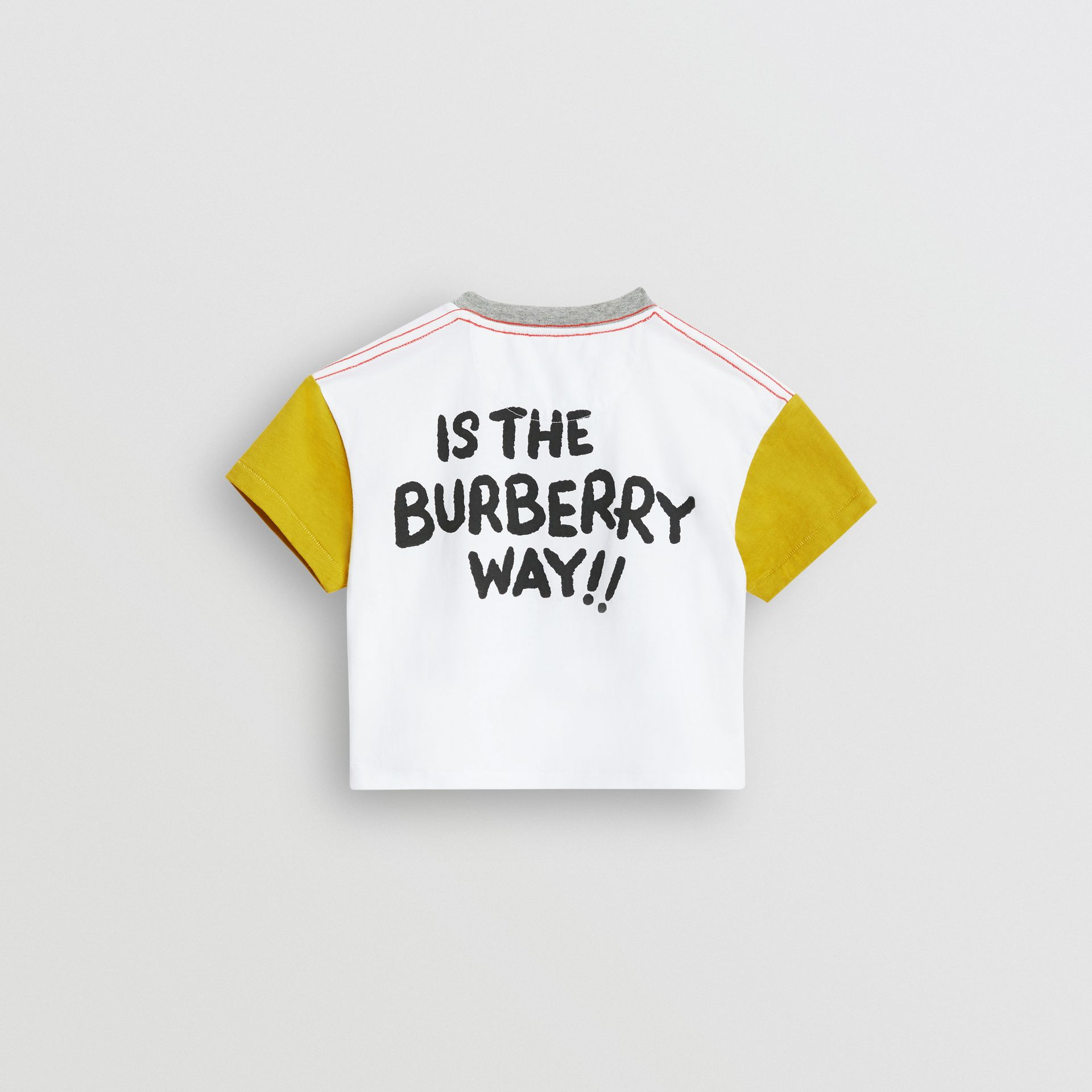 Cartoon Print Cotton T-shirt in Natural White - Children | Burberry - gallery image 3