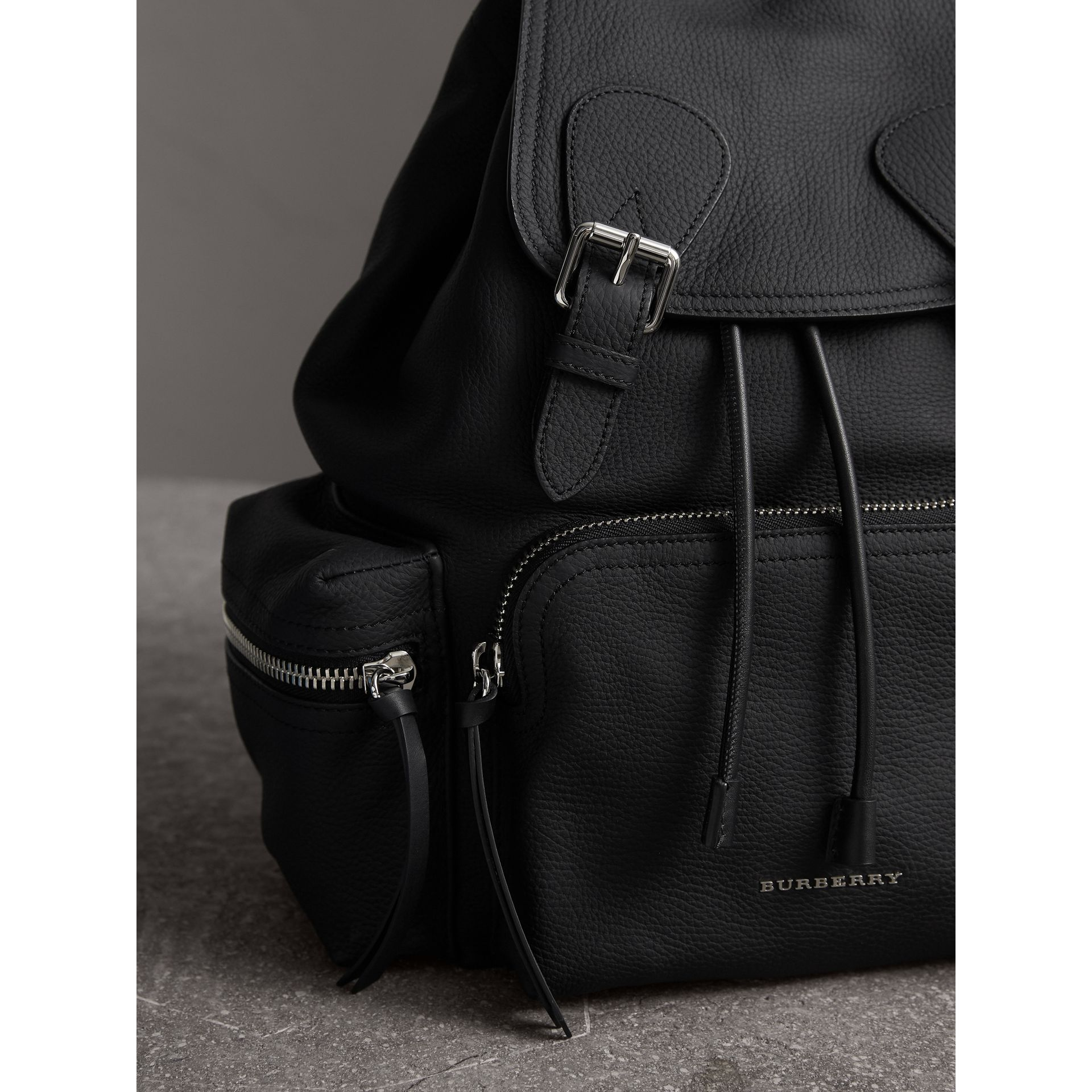 The Medium Rucksack in Deerskin with Resin Chain in Black - Women | Burberry Canada - gallery image 6