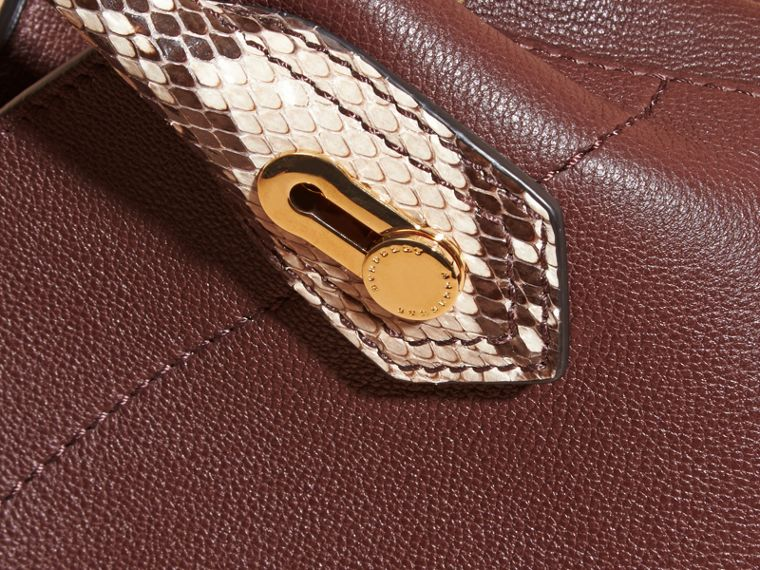 Dark chocolate The Baby Milton in Leather and Python - cell image 1