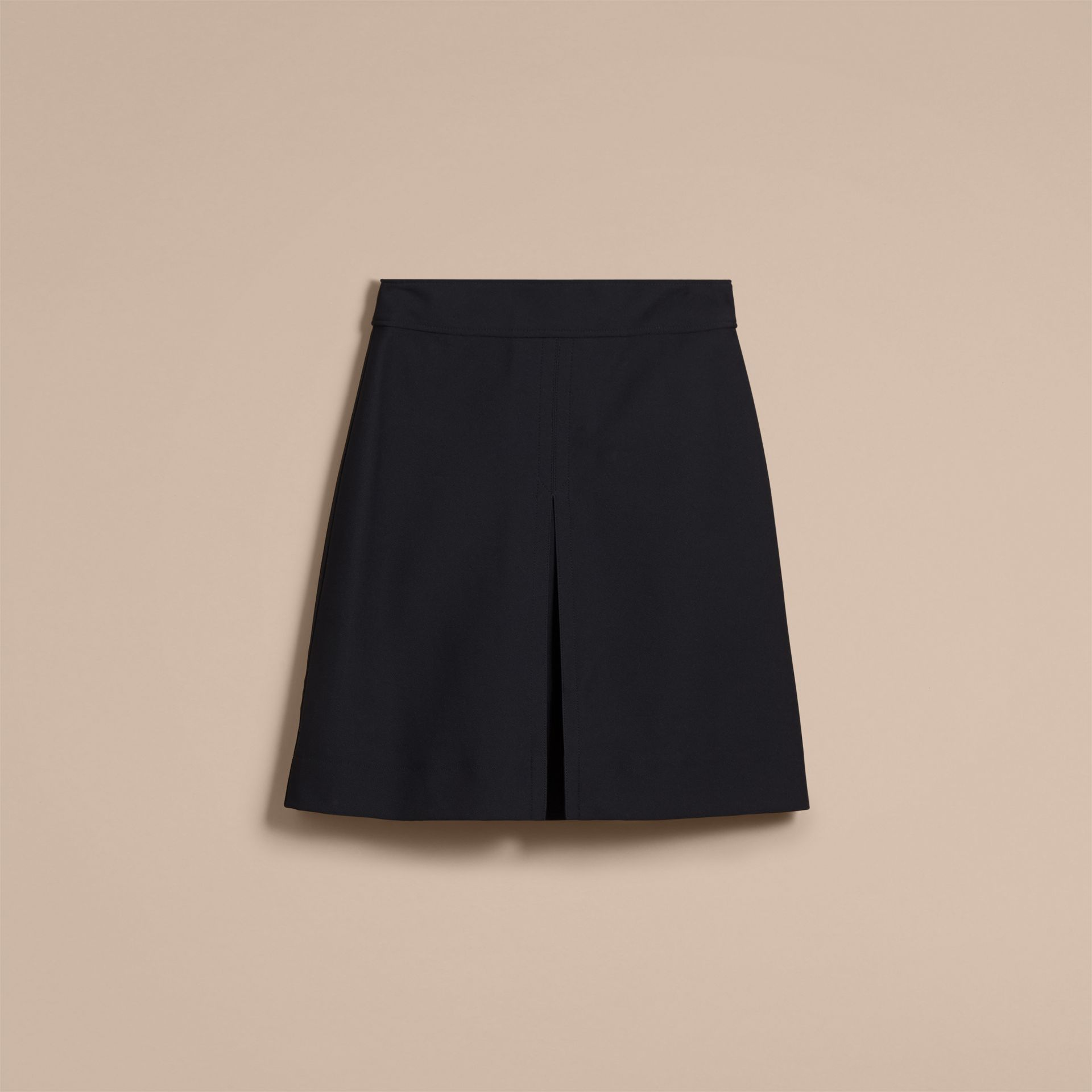 Stretch A-line Technical Skirt with Pleat Detail - gallery image 4