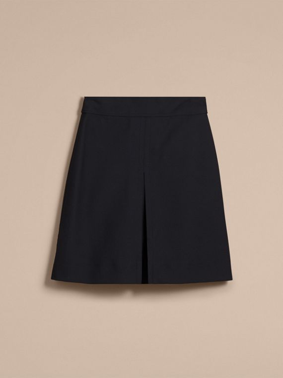 Stretch A-line Technical Skirt with Pleat Detail - cell image 3