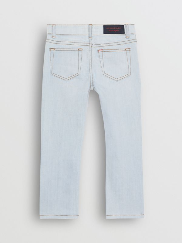 Skinny Fit Stretch Jeans in Light Blue - Boy | Burberry Hong Kong - cell image 3