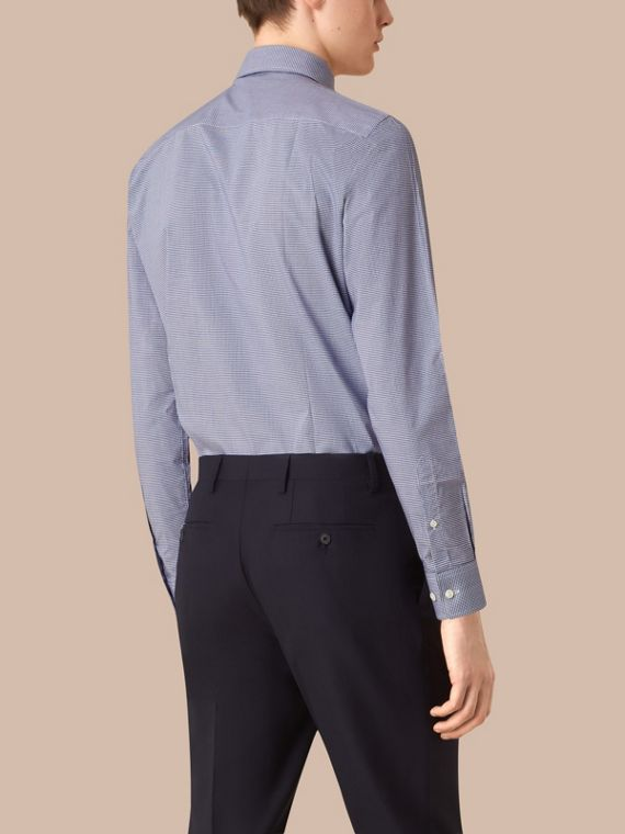 Blu impero scuro Camicia vichy sfiancata in popeline di cotone con colletto button-down Blu Impero Scuro - cell image 2