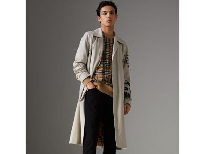 Preferred Scribble Check Merino Wool Sweater in Camel/black - Men | Burberry  CV61