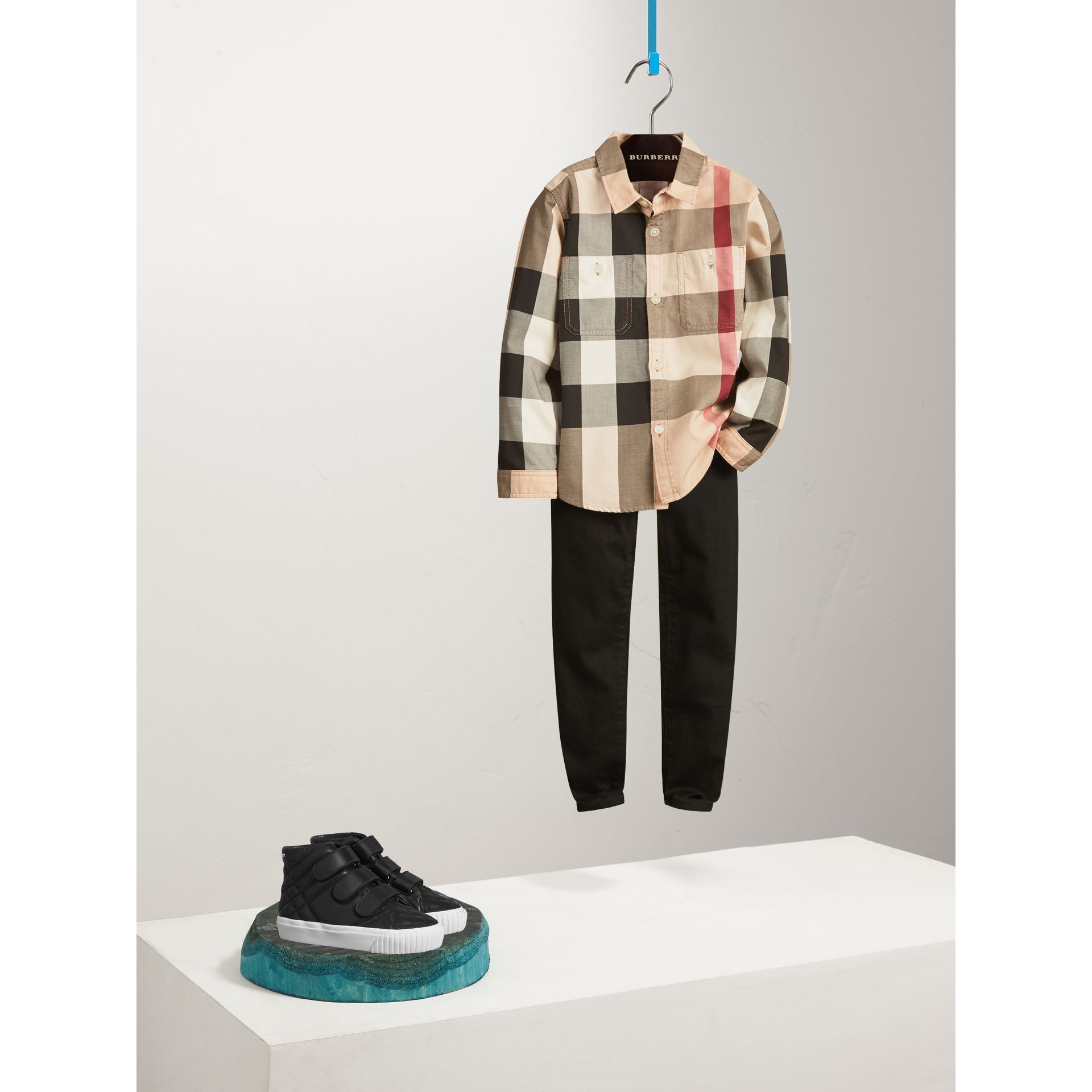 Check Cotton Shirt in New Classic - Boy | Burberry United Kingdom - gallery image 0
