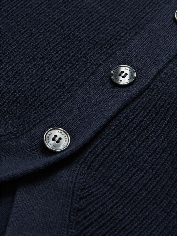 Cashmere Cotton Knit Cardigan in Navy - Children | Burberry - cell image 1