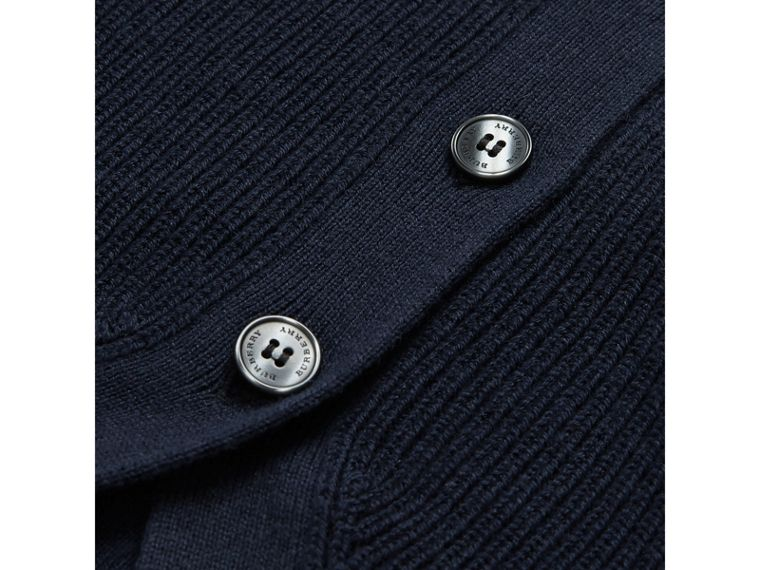 Cashmere Cotton Knit Cardigan in Navy | Burberry - cell image 1