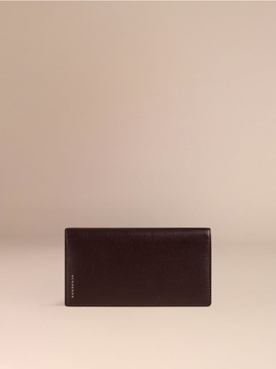 Wine London Leather Continental Wallet - cell image 2