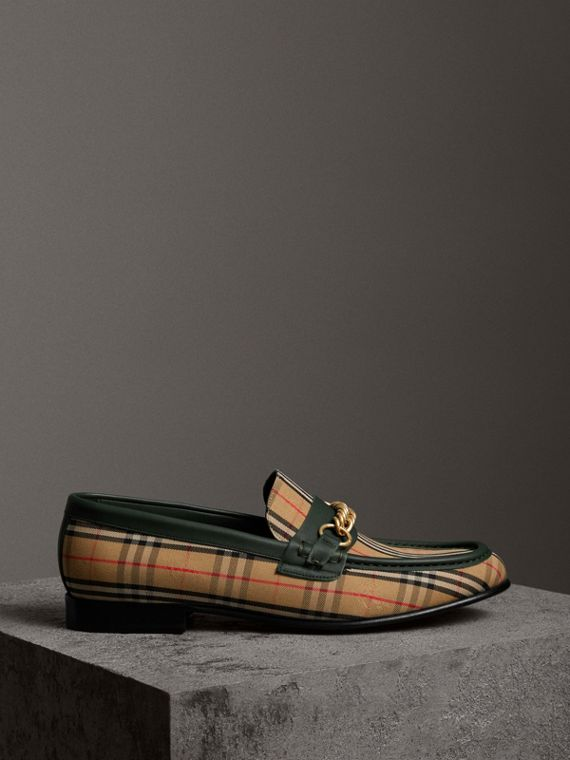 Mocassini The Link con motivo tartan del 1983 (Verde Foresta Scuro)