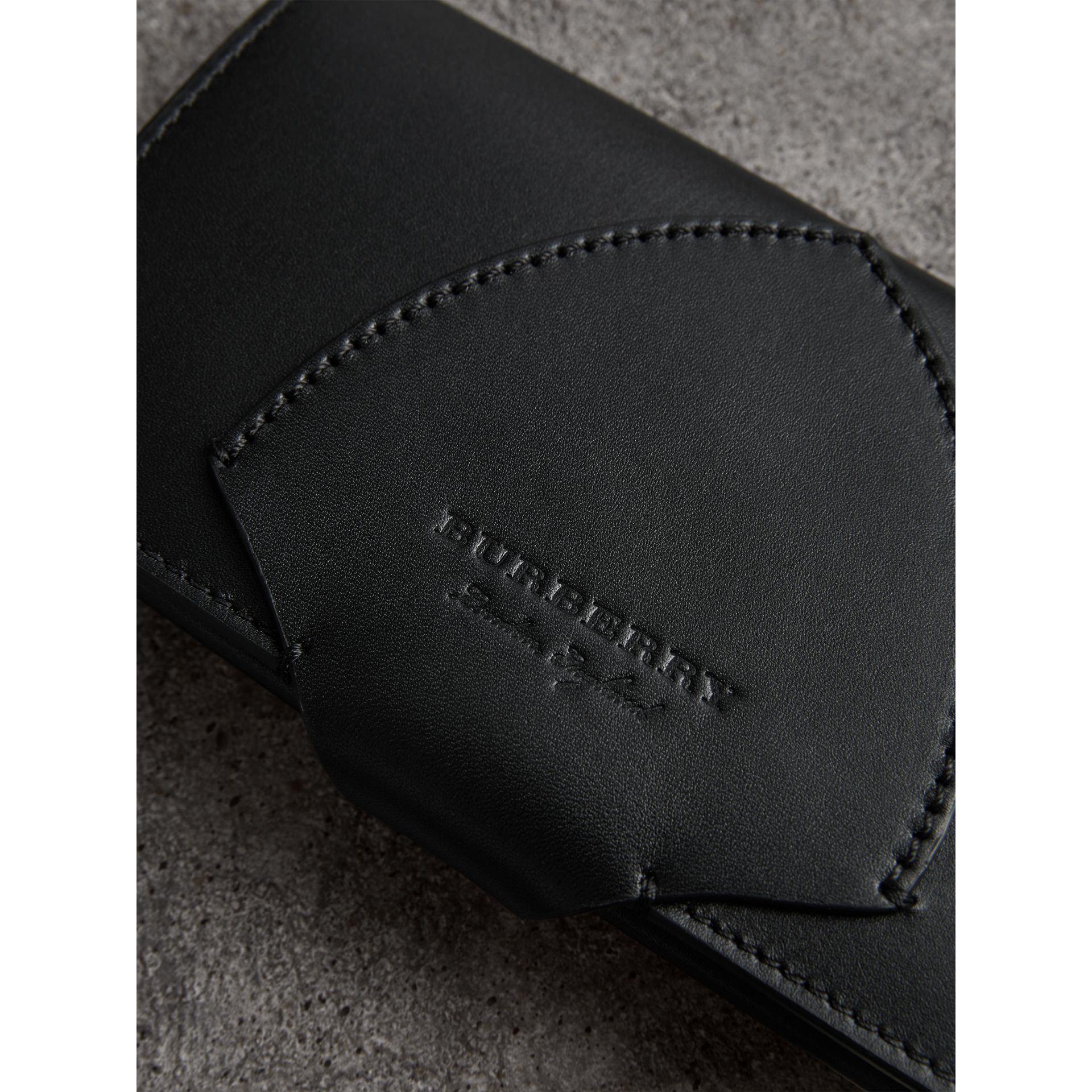 Equestrian Shield Leather Continental Wallet in Black - Women | Burberry - gallery image 1
