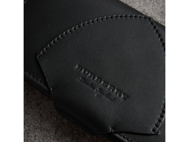 Equestrian Shield Leather Continental Wallet in Black - Women | Burberry United Kingdom - cell image 1