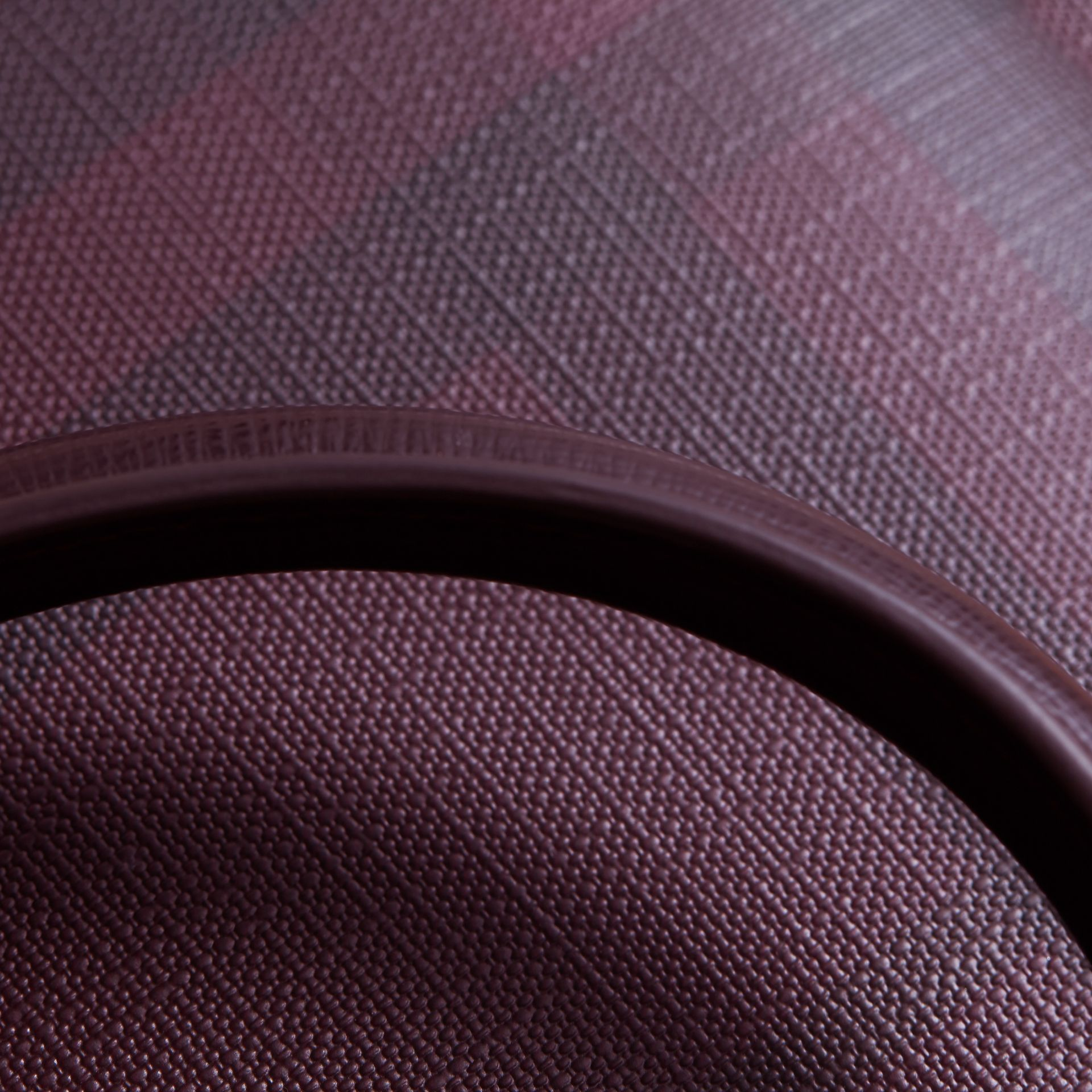 Medium Leather Trim London Check Briefcase in Deep Claret - Men | Burberry - gallery image 7