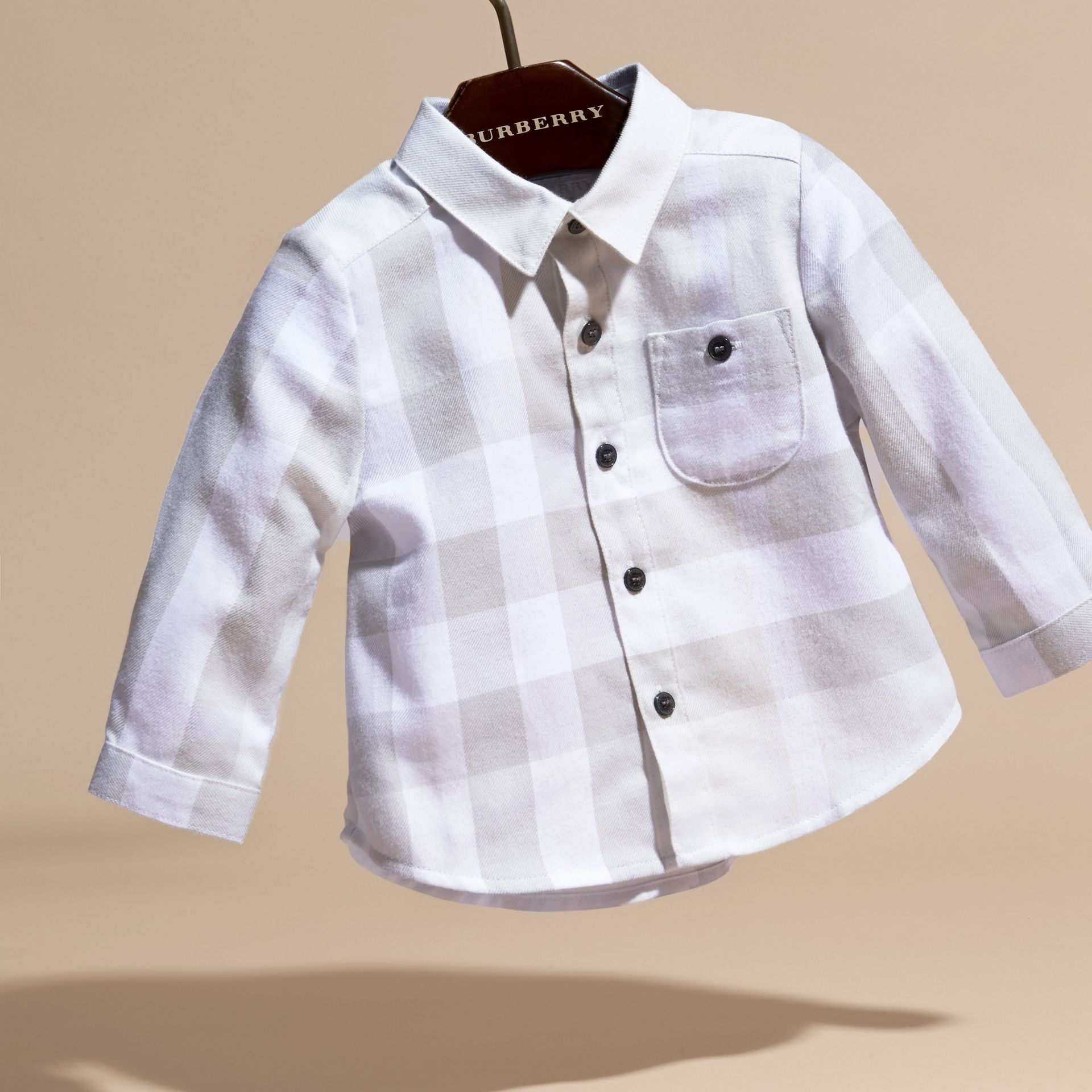 Washed Check Cotton Flannel Shirt - gallery image 3