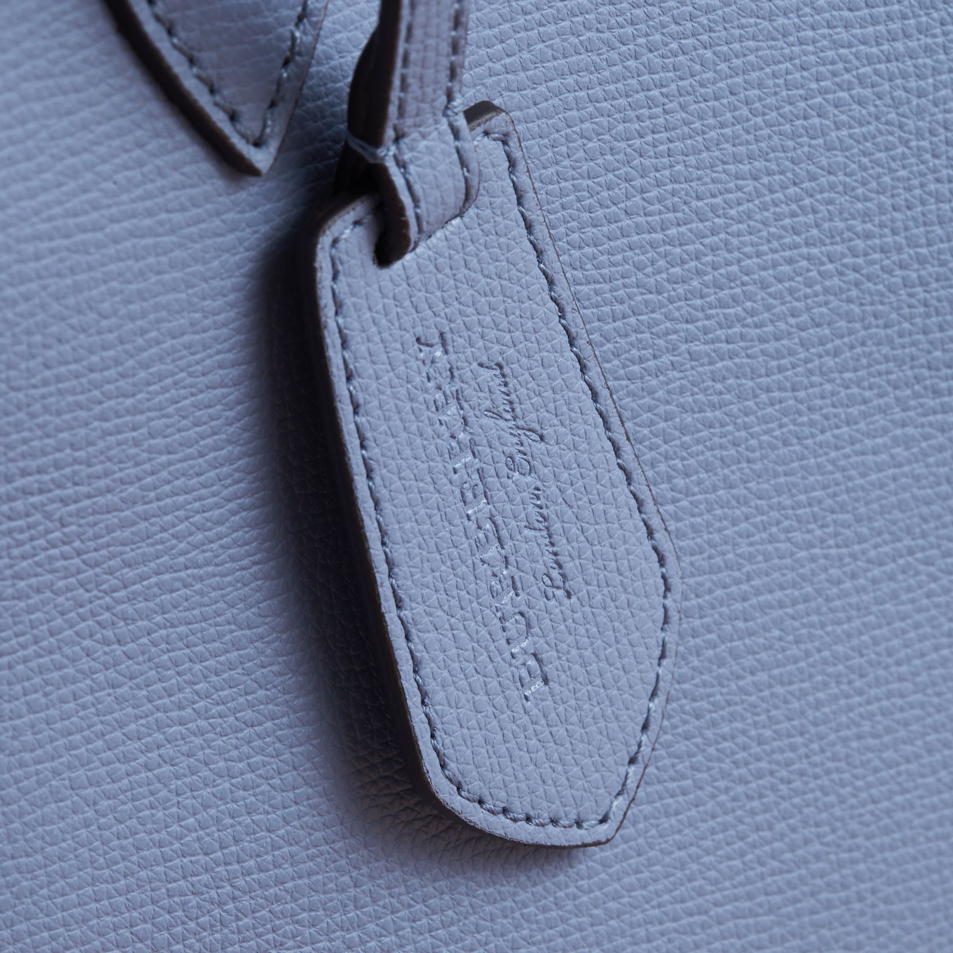 The Medium Reversible Tote in Haymarket Check and Leather Slate Blue - gallery image 2