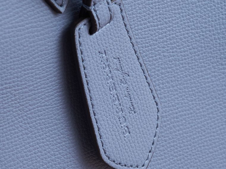 The Medium Reversible Tote in Haymarket Check and Leather Slate Blue - cell image 1