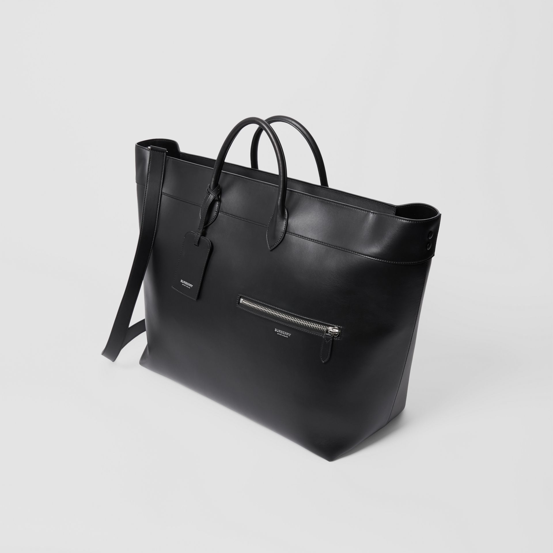 Leather Holdall in Black - Men | Burberry Australia - gallery image 3