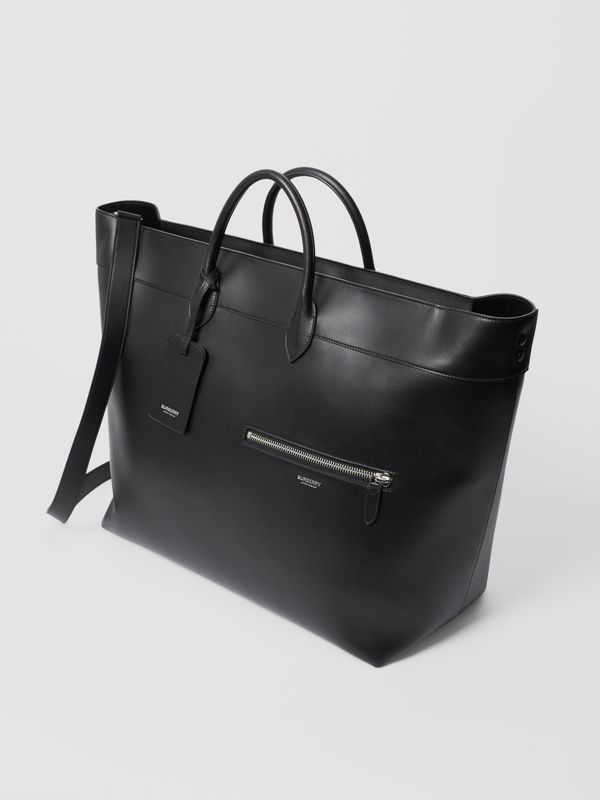 Leather Holdall in Black - Men | Burberry Australia - cell image 3