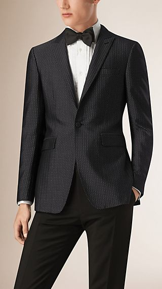 Slim Fit Silk Cotton Half-canvas Tuxedo Jacket