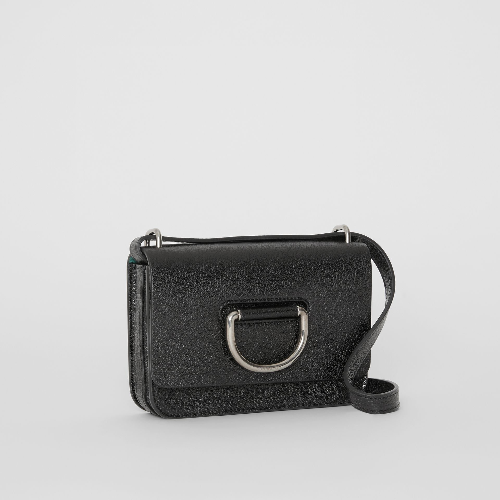 The Mini Leather D-ring Bag in Black - Women | Burberry Australia - gallery image 6