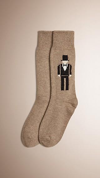 Chaussettes en cachemire à l'effigie du Danseur