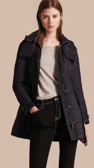 Diamond Quilted Coat