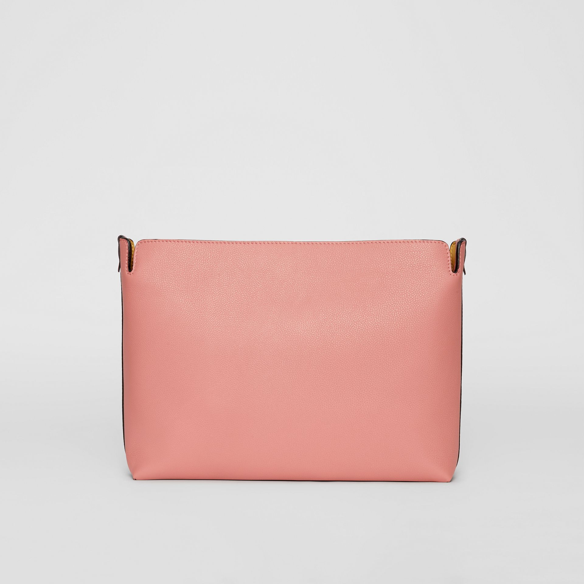 Grand clutch en cuir tricolore (Bordeaux Intense/rose Cendré) | Burberry - photo de la galerie 5