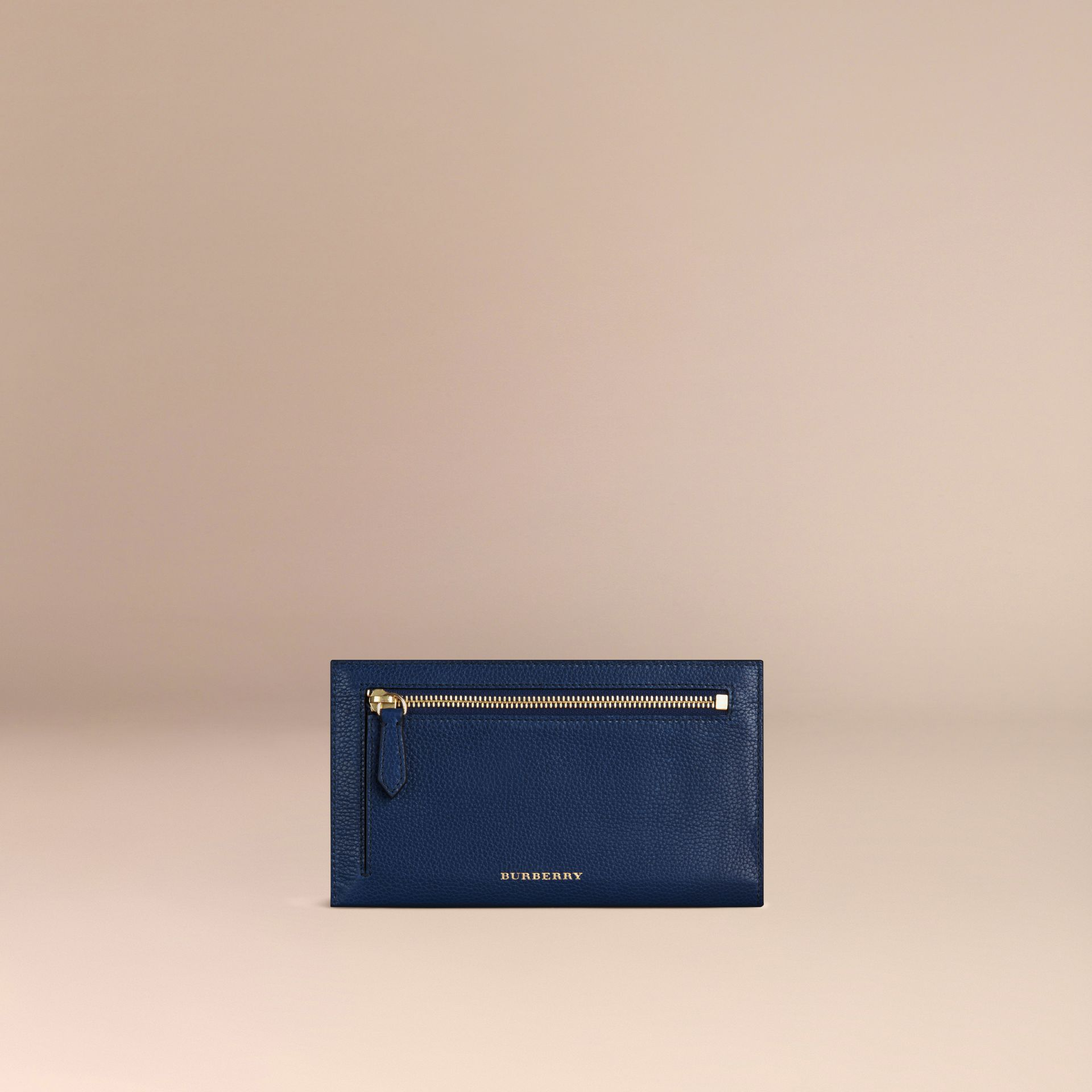 Grainy Leather Travel Case in Bright Navy - Men | Burberry - gallery image 4