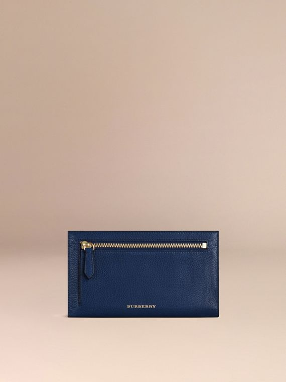 Grainy Leather Travel Case in Bright Navy - Men | Burberry - cell image 3