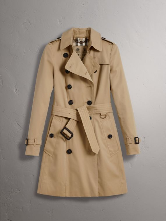 The Chelsea – Mid-length Trench Coat in Honey - Women | Burberry ...