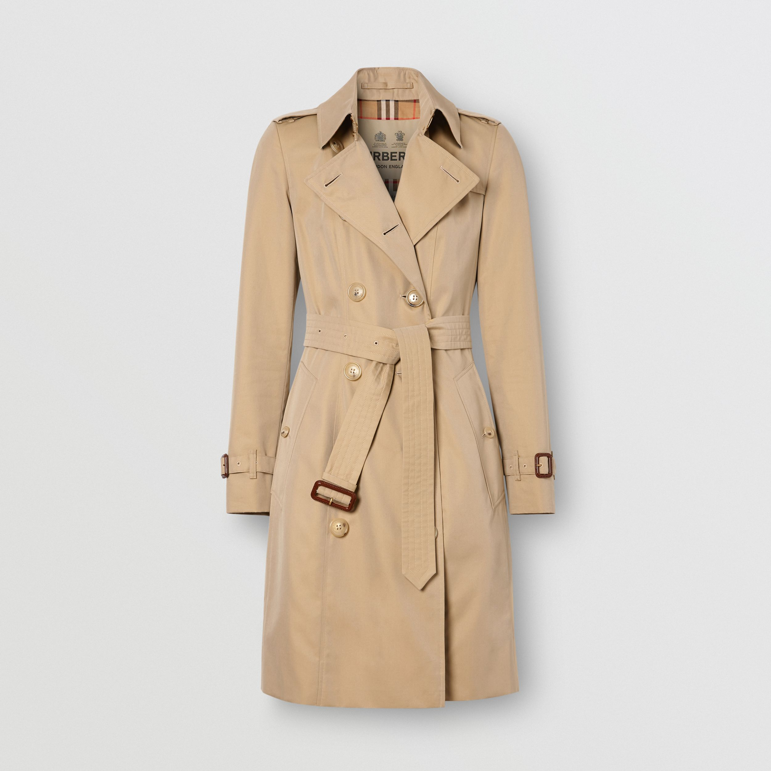 The Mid-length Chelsea Heritage Trench Coat in Honey - Women | Burberry - 4